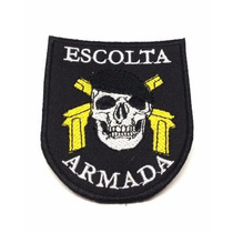 Patch / Bordado C/ Velcro - Escolta Armada - Skull