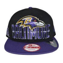Boné New Era Aba Reta Snapback Aberto Nfl Baltimore Ravens