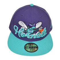 Boné New Era Aba Reta Fechado 5950 Nba Charlotte Hornets