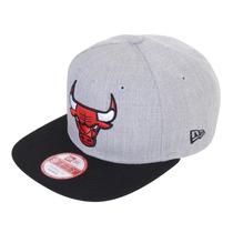 Boné Masculino New Era 950 Chicago Bulls Cinza