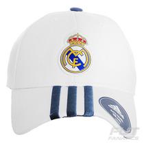 Boné Adidas Real Madrid 3s Branco - Futfanatics
