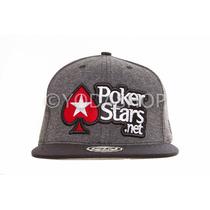 Boné Poker Stars Snapback Aba Reto Exclusico Frete Grátis!!