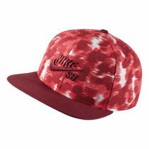 Boné Nike Sb Pixelated - Strapback-vermelho Original