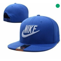 Boné Aba Reta Nike Masculino Importado Azul E Branco