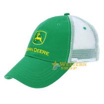 Boné John Deere Importado Verde Com Tela Branca - Único