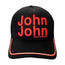 Boné John John Azul Marinho Com Vermelho Original