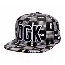 Boné Dgk Checkers Black Snapback Skate - Pronta Entrega