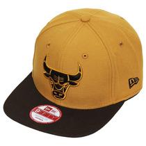 Boné New Era Snapback Nba Bulls Panama - Bege - Ajustável -