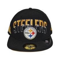Boné New Era Aba Reta Fechado 5950 Nfl Pittsburgh Steelers