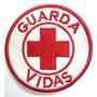 Patch Bordado Guarda Vidas - Branco E Vermelho Sem Velcro