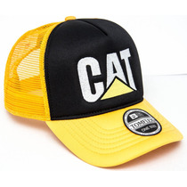 Boné Telado Trucker Caterpillar Cat Bordado Original Tomflex