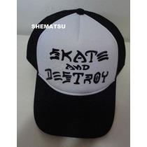 Bone Skate And Destroy Trucker Tela Aba Curva