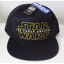Boné Star Wars The Force Awakens Trucker Cap Tela Aba Reta