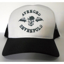 Boné Avenged Sevenfold Trucker Tela Oldschool Redinha Rock