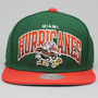Boné Importado Snapback Mitchell And Ness Miami Hurricanes