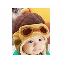 Touca Gorro Aviador Baby Infantil Criança Bebê Algodão Linda
