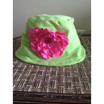 Chapéu De Praia Infantil Americano Verde-limão E Pink