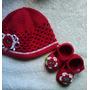 Conjunto De Croche Pra Bebê Com Touca E Sapatinho