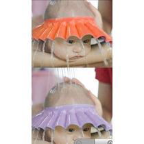 Protetor De Banho Viseira Chapeu Lava Cabeça Bebês Chuveiro