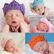 Coroa Em Croche Bebes Newborn Fotografias - Art Croche
