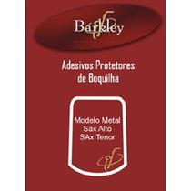 Kit 5 Adesivos Barkley Protetor De Boquilha Metal Sax Tenor