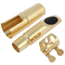 Boquilha De Metal Sax Alto Jazz-# Dourada/prata.profissional