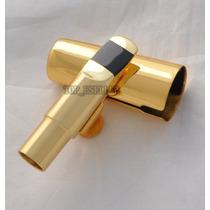 Boquilha De Metal Sax Soprano A-# Dourada/prata.profissional