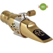 Boquilha Ever-ton Strength 7 Metal Gold Sax Alto Completa
