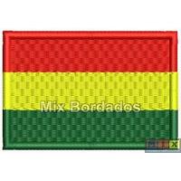Bordado Termocolante - Bandeira Países - Bolívia 7x4,5cm
