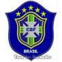 Patch Bordado Copa 2014 Seleção Brasil Cbf Azul 10cm Sel21
