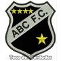 Patch Bordado Escudo Futebol Abc Fc 8,5cm Tms21