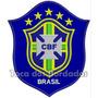 Patch Bordado Copa 2014 Seleção Brasil Cbf Az Gr 17cm Sel17