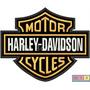 Patch Bordado - Harley Davidson Logo Grande 26,5x20,8cm
