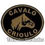 Patch Bordado Cavalo Crioulo 6x7cm Rod1