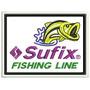 Patch Bordado De Pesca Sufix Fishing Line 6,5 X 8,5cm Pes38