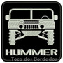 Patch Bordado Hummer 4x4 Gm Fundo Preto 8cmx8cm Suv Car407