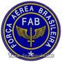 Patch Bordado Avião Fab Brasil Força Aérea Brasileira Mlt92
