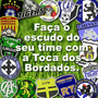 Kit 10 Pçs Patch Bordado Escudo Distintivo Time De Futebol