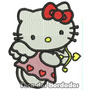 Patch Bordado Infantil Hello Kitty Cupido 9cm Per12