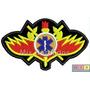 Bordado Termocolante - Profissões - Brasão Bombeiros 10x5,3