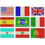 Mini Patch Bordado - Bandeiras Brasil E Todos Países 5x3,3cm