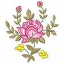 Floral Rosê 001 - Coleção De Matriz De Bordado