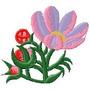 B422 Coleção Bordados Computadorizado Flores Brothes Janom