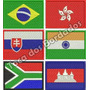 Bandeira Bordada 5x7cm Patch Estado Pais Brasil Sp Rs Rj Mg
