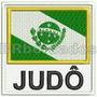 Bbr187 Judô Bandeira Paraná Arte Marcial Patch Br Bordados