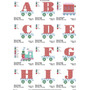 Coleção De Bordados Alfabeto Monograma Trenzinho Ponto Cruz