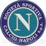 Tiit033 Napoli Escudo Time Futebol Italia Patch Bordado 9cm