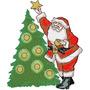 B1240 Coleção Bordados Computadorizados Natal Papai Noel