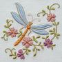 B663 Coleção Bordados Computadorizados Flores Com Borboletas