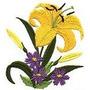 B974 Coleção Bordados Computadorizados Flores Lindas